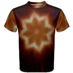 Christmas Flower Star Light Kaleidoscopic Design Men s Cotton Tee
