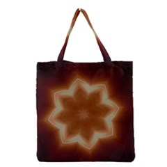 Christmas Flower Star Light Kaleidoscopic Design Grocery Tote Bag