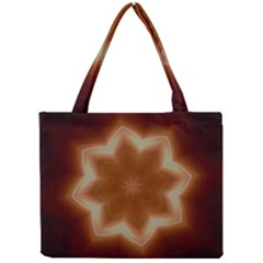 Christmas Flower Star Light Kaleidoscopic Design Mini Tote Bag