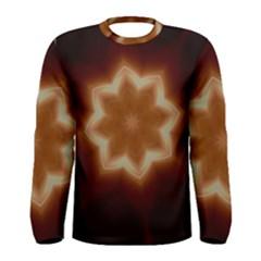 Christmas Flower Star Light Kaleidoscopic Design Men s Long Sleeve Tee