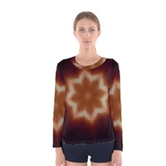 Christmas Flower Star Light Kaleidoscopic Design Women s Long Sleeve Tee