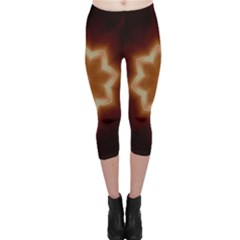 Christmas Flower Star Light Kaleidoscopic Design Capri Leggings