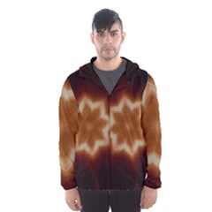 Christmas Flower Star Light Kaleidoscopic Design Hooded Wind Breaker (Men)