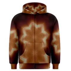 Christmas Flower Star Light Kaleidoscopic Design Men s Zipper Hoodie
