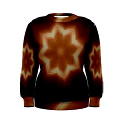 Christmas Flower Star Light Kaleidoscopic Design Women s Sweatshirt