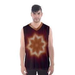 Christmas Flower Star Light Kaleidoscopic Design Men s Basketball Tank Top