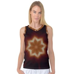 Christmas Flower Star Light Kaleidoscopic Design Women s Basketball Tank Top