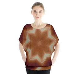 Christmas Flower Star Light Kaleidoscopic Design Blouse