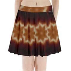 Christmas Flower Star Light Kaleidoscopic Design Pleated Mini Skirt