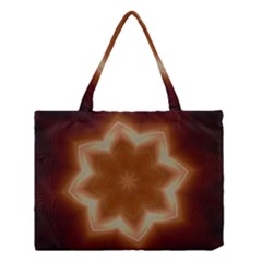 Christmas Flower Star Light Kaleidoscopic Design Medium Tote Bag
