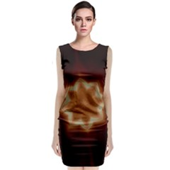 Christmas Flower Star Light Kaleidoscopic Design Sleeveless Velvet Midi Dress