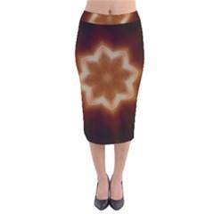 Christmas Flower Star Light Kaleidoscopic Design Velvet Midi Pencil Skirt
