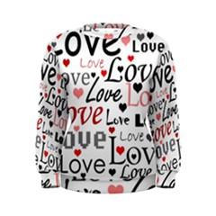 Love pattern - red Women s Sweatshirt