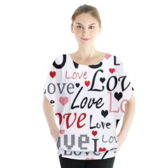 Love pattern - red Blouse