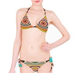 Oval Circle Patterns Bikini Set