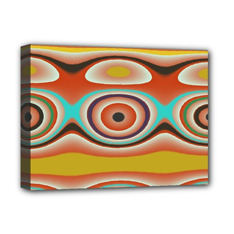Oval Circle Patterns Deluxe Canvas 16  x 12