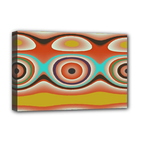 Oval Circle Patterns Deluxe Canvas 18  x 12