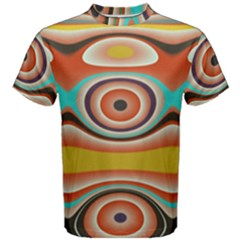 Oval Circle Patterns Men s Cotton Tee
