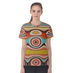 Oval Circle Patterns Women s Cotton Tee