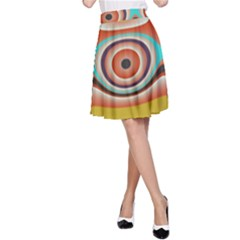 Oval Circle Patterns A-Line Skirt