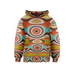 Oval Circle Patterns Kids  Pullover Hoodie
