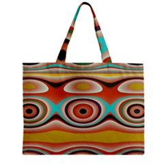 Oval Circle Patterns Zipper Mini Tote Bag