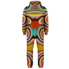 Oval Circle Patterns Hooded Jumpsuit (Men)
