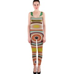 Oval Circle Patterns OnePiece Catsuit