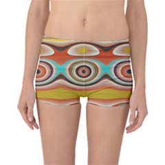 Oval Circle Patterns Boyleg Bikini Bottoms