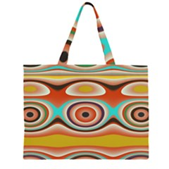 Oval Circle Patterns Large Tote Bag