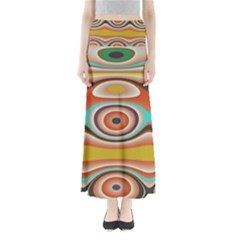 Oval Circle Patterns Maxi Skirts