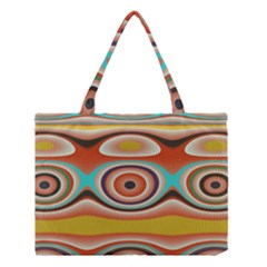 Oval Circle Patterns Medium Tote Bag