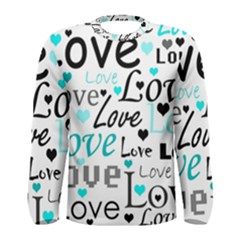 Love pattern - cyan Men s Long Sleeve Tee