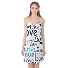 Love pattern - cyan Camis Nightgown