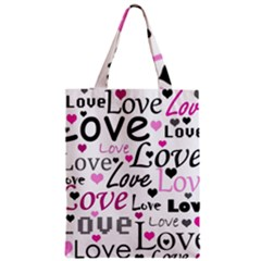 Love pattern - magenta Classic Tote Bag