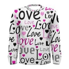 Love pattern - magenta Men s Long Sleeve Tee