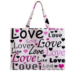 Love pattern - magenta Medium Tote Bag