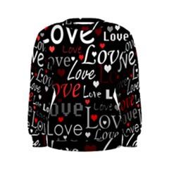 Red Love pattern Women s Sweatshirt