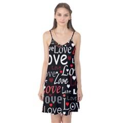 Red Love pattern Camis Nightgown