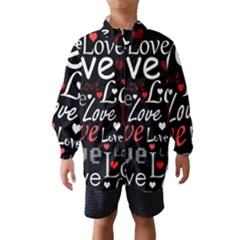Red Love pattern Wind Breaker (Kids)