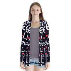 Red Love pattern Cardigans
