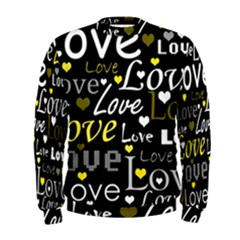 Yellow Love pattern Men s Sweatshirt