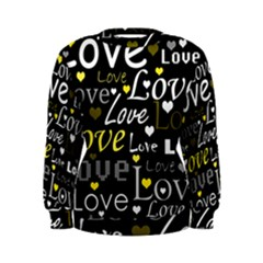 Yellow Love pattern Women s Sweatshirt