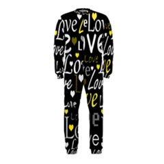 Yellow Love pattern OnePiece Jumpsuit (Kids)