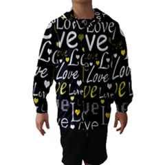 Yellow Love pattern Hooded Wind Breaker (Kids)