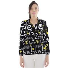Yellow Love pattern Wind Breaker (Women)