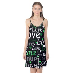 Green Valentine s day pattern Camis Nightgown