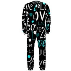 Valentine s day pattern - cyan OnePiece Jumpsuit (Men)