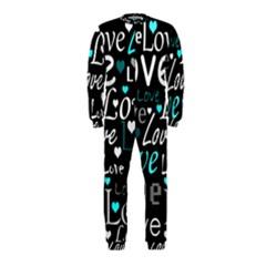 Valentine s day pattern - cyan OnePiece Jumpsuit (Kids)