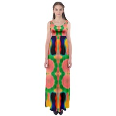 earth traveler ABSTRACT 2016 Empire Waist Maxi Dress